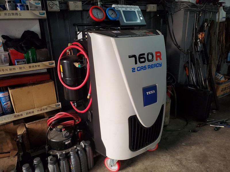 新北市新莊區凱承汽車修護廠 備有全自動冷氣循環機
