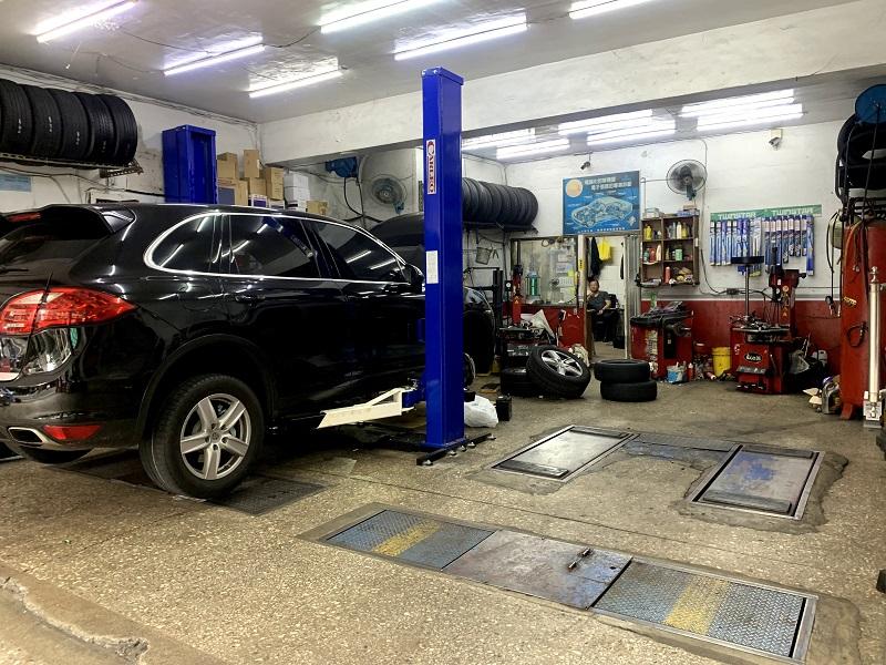 新北市板橋區推薦修車行保養廠輪胎行合將汽車保養廠廠內
